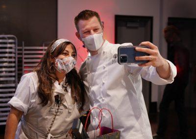 Competitor Chef selfie – Chef Gloria Jordan and Chef Jason Goddard