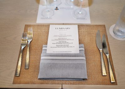 VIP lunch paired with wine